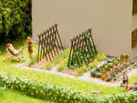 NOCH HO Scale Bean Supports (4) Laser Cut Minis Kit # N14200